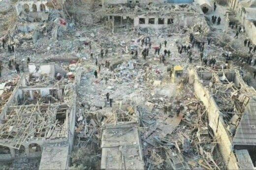 ببینید | تصاویر هوایی از جنایت موشکی ارمنستان