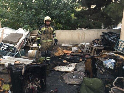 حادثه آتشسوزی در یک منزل قدیمی در تهران