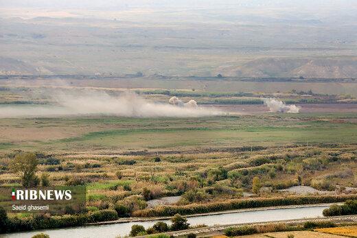 جنگ قره باغ در مرز ایران
