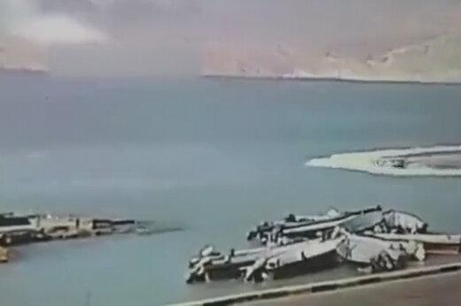 ببینید | لحظه شهادت سروان ناخدا اصغر سالارپور از پرسنل دریابانی قشم
