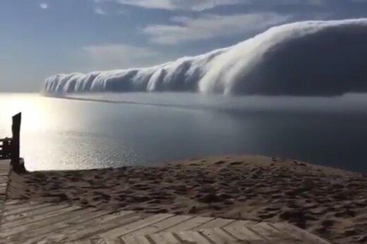 ببینید | نمونهای شگفتانگیز از اعجاب طبیعت؛ گردباد عرضی در میشیگان