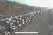 ببینید | ترافیک سنگین در بزرگراه کرج به سمت تهران
