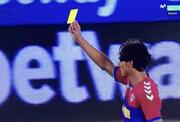 شوخی خندهدار بازیکن اسپانیایی با داور در لالیگا/عکس