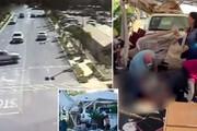 ببینید | ورود مرگبار خودرو به داخل مرکز خرید و زیر گرفتن مردم