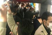 عکس| مترو تهران در روز رکورد ایران در مرگ ناشی از کرونا