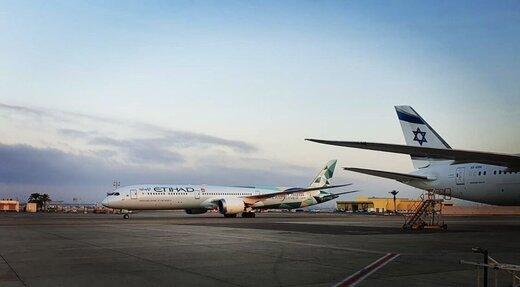 اولین هواپیمای اماراتی در تلآویو به زمین نشست
