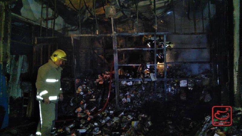 حادثه آتشسوزی در یک انبار کالا در میدان امام خمینی (ره)