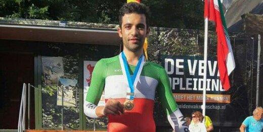 مصدومیت شدید قهرمان دوچرخهسواری ایران/عکس