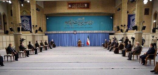 دیدار حضوری روحانی و اعضای ستاد ملی کرونا با رهبر انقلاب+عکس