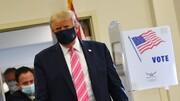 ترامپ هنگام رای دادن:من به کسی که اسمش ترامپ است،رای دادم،میتوانم به شما بگویم این یک رای بسیار امن بود!/عکس