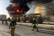 ببینید | مهار آتش در واحد آروماتیک و عملیات چندساعته آتش نشانان پتروشیمی بندر امام