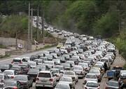 ترافیک سنگین در آزادراه تهران_کرج_قزوین