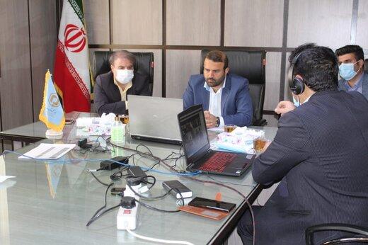 نشست مدیر بنیاد مسکن کهگیلویه و بویراحمد با رئیس بنیاد مسکن انقلاب اسلامی کشور به صورت  ویدئو کنفرانسی