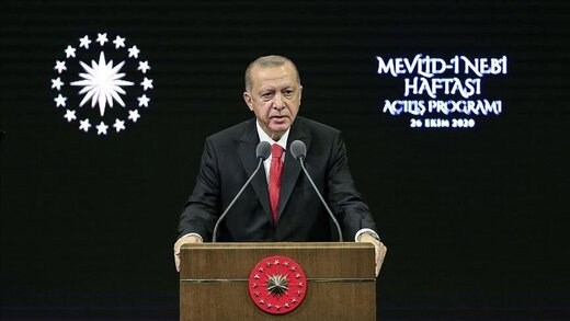 درخواست اردوغان از مردمش برای تحریم کالاهای فرانسوی