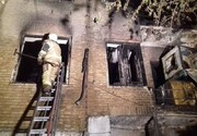 آتشسوزی ساختمان ۳ طبقه در طولانیترین خیابان خاورمیانه/ تصاویر