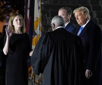 سنای آمریکا نامزد ترامپ برای دیوان عالی را تائید کرد/عکس