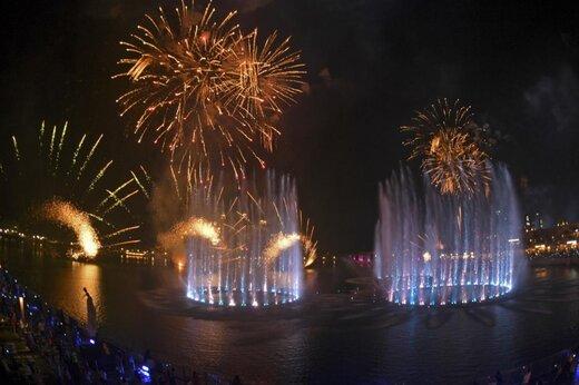 ببینید | افتتاح بزرگترین فواره دنیا در دبی