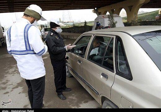 بیش از ۶ هزار خودرو در تهران به دلیل ماسک نزدن جریمه شدند