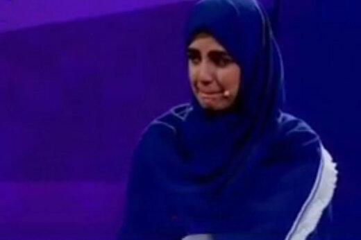 ببینید | نامه خیالی خداحافظی به همسر در یک مسابقه تلویزیونی اشک زوج جوان را درآورد!
