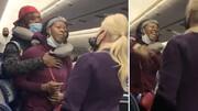ببینید | کتککاری خبرساز در هواپیما مقابل چشم مسافرین
