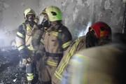 تصاویر | حادثه آتشسوزی در یک منزل مسکونی واقع در پاسگاه نعمت آباد