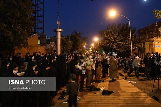 تجمع اعتراضی مقابل سفارت فرانسه در تهران