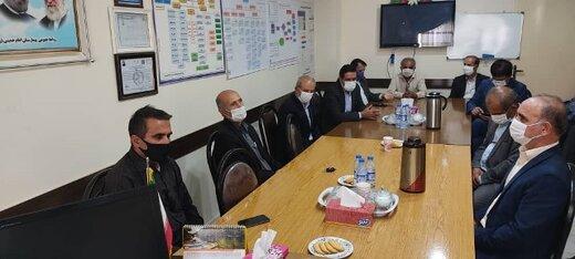 قدردانی فرهنگیان بازنشسته کهگیلویه از مدافعان سلامت بیمارستان امام خمینی(ره) دهدشت