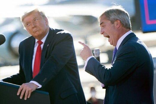 ترامپ به فاراژ لقب پادشاه اروپا را داد