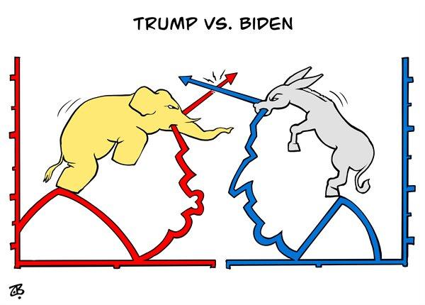 اینم رقابت ترامپ و بایدن به روایت آمار!