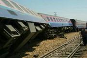 ببینید | خروج قطار مملو از مواد شیمیایی از ریل