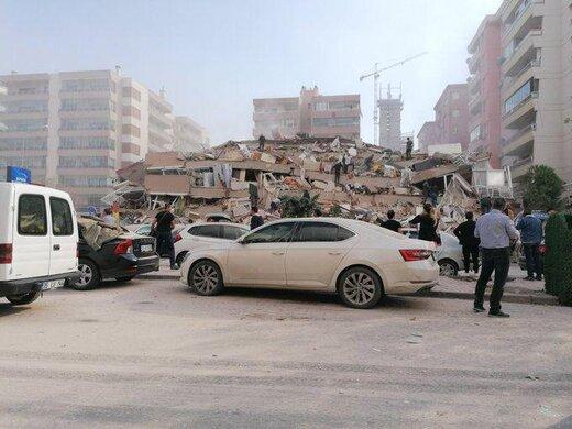 تصاویری از خرابی های ناشی از زلزله در ازمیر ترکیه