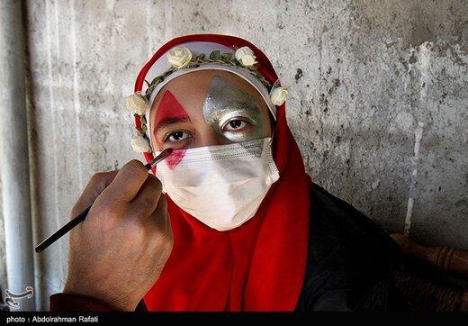 نمایش خیابانی بهداشت در ایام کرونا - همدان