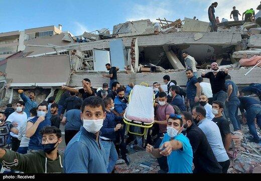 زلزله در ازمیر - ترکیه