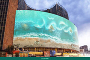 دیوارنگارهای تازه در میدان ولیعصر/ دریا مبرّا از پلیدیست