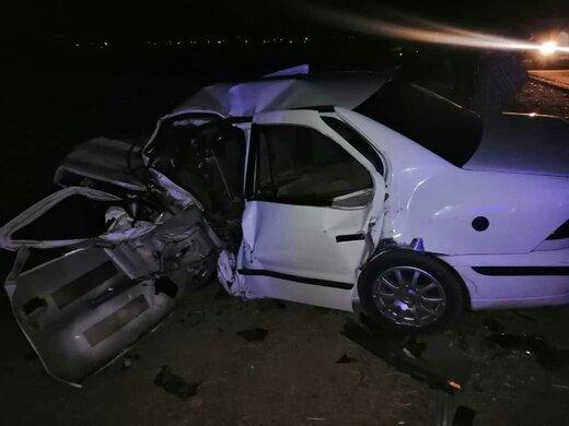 ۱۷ مصدوم بر اثر تصادف چند خودرو در بلوار شهید تندگویان
