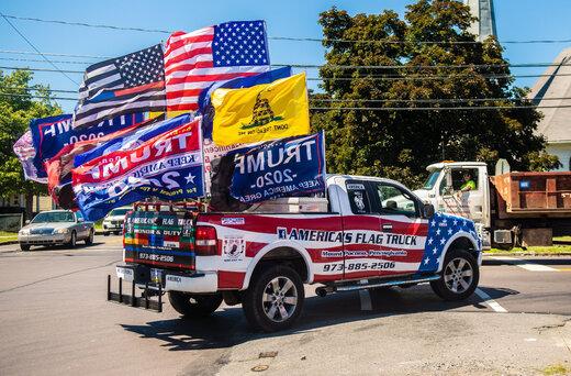 ببینید | طرفداران ترامپ یک بزرگراه را در ایالت نیوجرسی آمریکا مسدود کردند