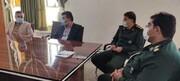 دیدار سرپرست بیمارستان امام خمینی(ره) دهدشت با فرمانده ناحیه مقاومت بسیج کهگیلویه+تصاویر