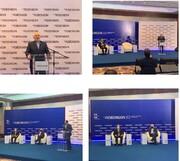 """ظريف يحضر اجتماع """"ايران – فنزويلا المشترك للدفاع عن العالم الجديد"""""""