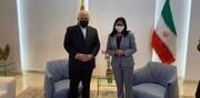 ظریف با معاون مادورو دیدار کرد/عکس