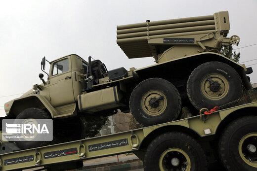 اعزام بخشی از تجهیزات زرهی لشکر ۱۶ زرهی قزوین به مرزهای شمال غرب