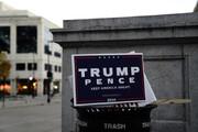 ببینید | انداختن تراکت تبلیغاتی ترامپ در سطل زباله