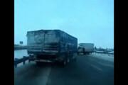 ببینید | دستفرمان یعنی این؛ مهارت خیرهکننده راننده کامیون