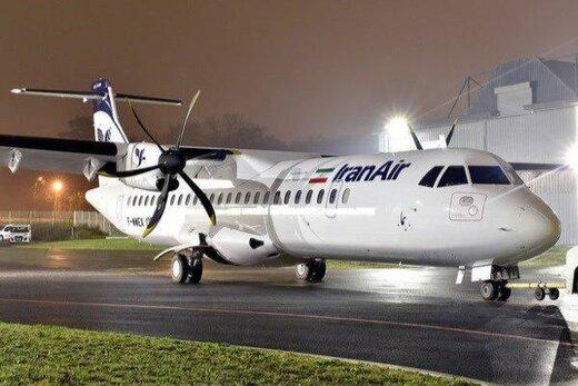 ببینید | آتش گرفتن موتور هواپیمای ATR ایران ایر در آسمان
