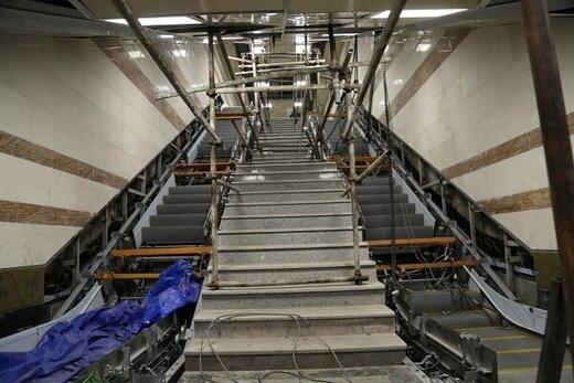 نصب پله برقی ایرانی در ایستگاه های خط ۷ مترو پایتخت