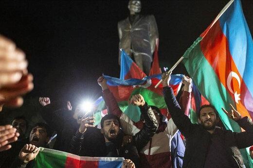 ببینید | شادی در باکو پس از امضای توافق نامه پایان جنگ قرهباغ