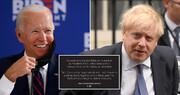 عکس | حقه انگلیسی بوریس جانسون به بایدن که جنجالی شد!