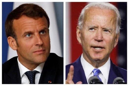 بایدن و مکرون درباره توافق اتمی و دیگر معاهدات بینالمللی گفتگو کردند