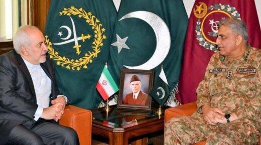 دیدار و گفت و گوی ظریف با فرمانده ارتش پاکستان