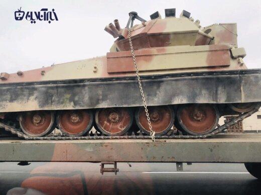 حمل تانک قدیمی در اتوبان کرج