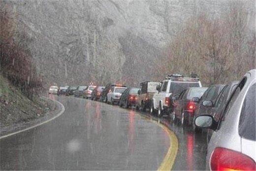 بازگشت مسافران از شمال، ترافیک چالوس را سنگین کرد
